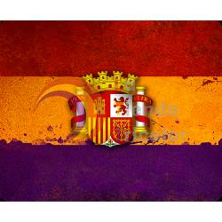 Alfombrilla de Ratón - Bandera 2ª República Española Pintura