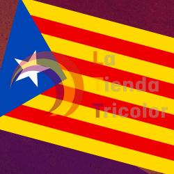 Bandera Señera Estelada de Cataluña 150 x 90 cm