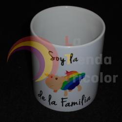 Taza Soy la oveja arcoiris de la familia