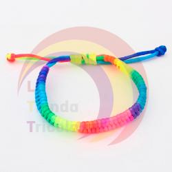 Pulsera arcoiris trenza - LGBT (LGTB)
