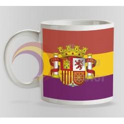 Taza Bandera 2ª República Española estandar